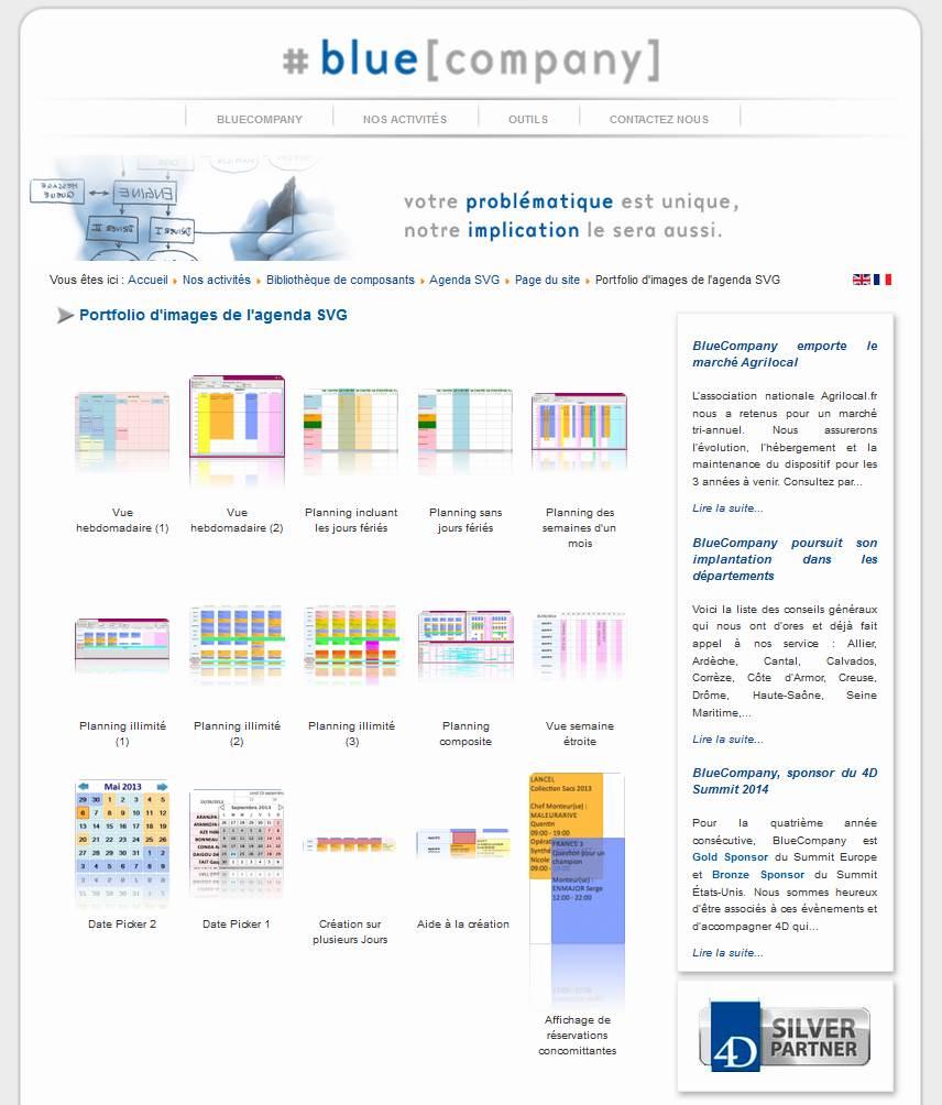 Sreenshots d'exemples du plugin 4D Graphes