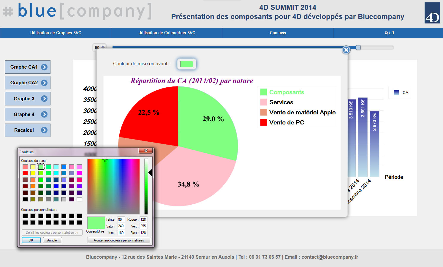 Graphes interactifs en svg